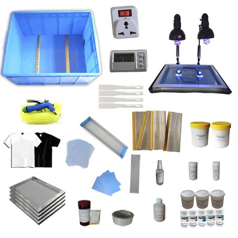 diy screen print india full 4 color silk screening supply kit squeegee uv