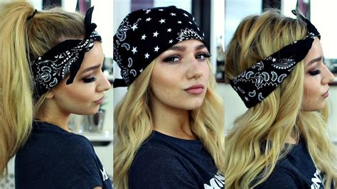 hairstyles w one hair tie womens hairstyles 2017 bandana hairstyles