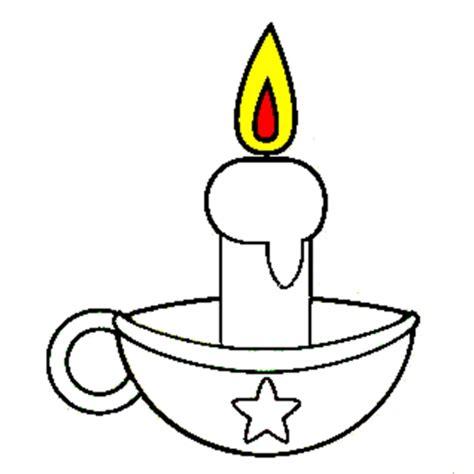 candela di natale da colorare disegno di candela di natale da colorare per bambini