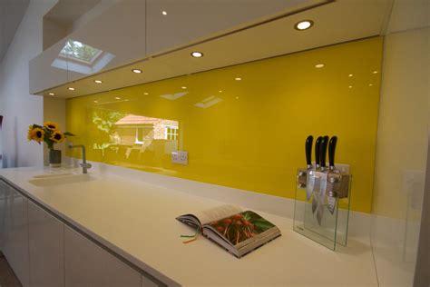 yellow kitchen splashback glasskitchensplashbacks