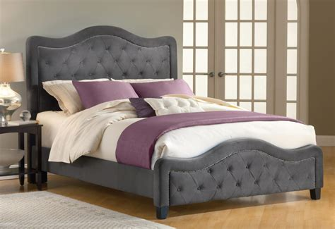 Bed With Headboard And Footboard fb1512 upholstered bed frame bedroom furniture with tufted headboard and footboard in folding
