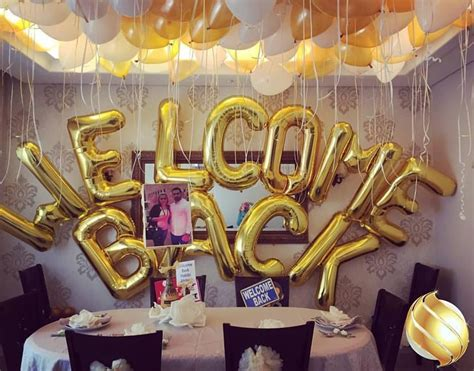 welcome home decorating ideas balloon backdrop for a welcome back party decoration