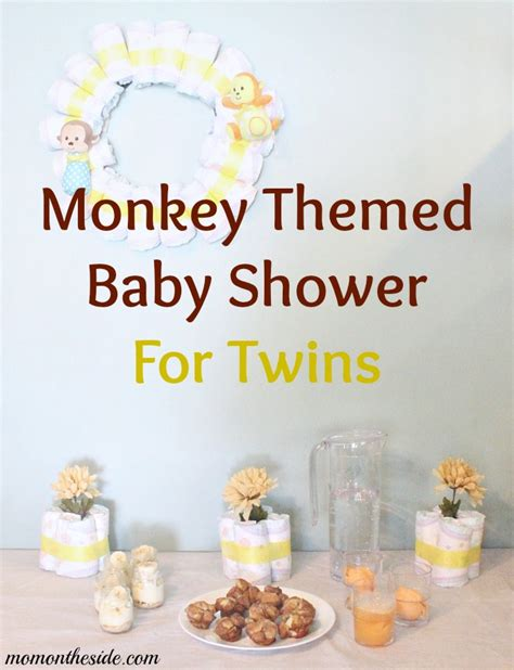 Monkey Themed Baby Shower Food by Monkey Themed Baby Shower For With Decorations And Food