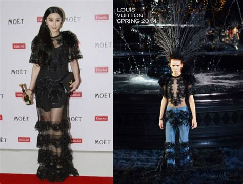 A Skewed Lonely View On Lv Runway by Or Hmm Fan Bingbing S Power Of Charity Event