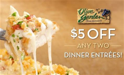 2 for 30 olive garden olive garden 5 two dinner entrees printable coupon