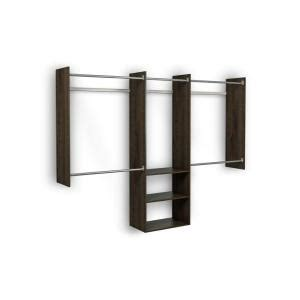 Closet System Home Depot by Martha Stewart Living 4 Ft 8 Ft Espresso Deluxe