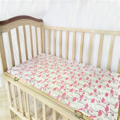 Baby Crib Mattress Cover Baby Fitted Sheet Muslin Bed Sheets Covers Mattress Cover Protector Crib Sheet Baby Bedding Set