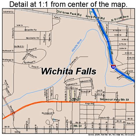 map wichita falls texas wichita falls texas map 4879000