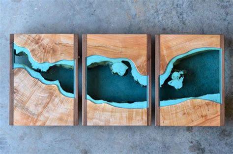 prachtige houten tafels met glazen rivieren gewoonvoorhem