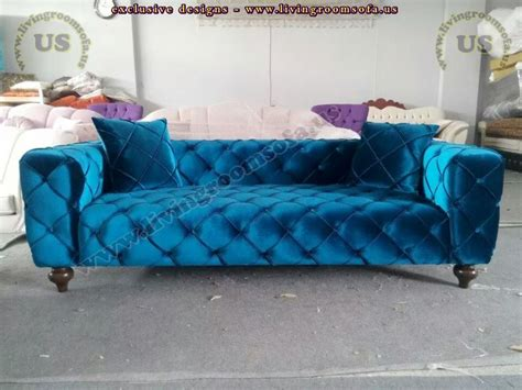 turquoise chesterfield sofa turquoise blue quilted chesterfield sofa exclusive