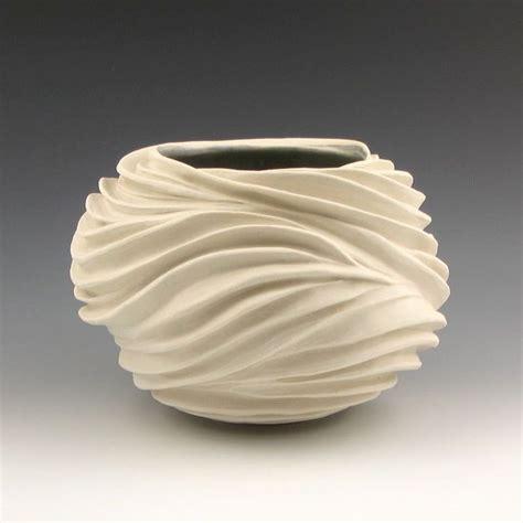 ceramic clay carved sculptural ceramic pottery vessel porcelain