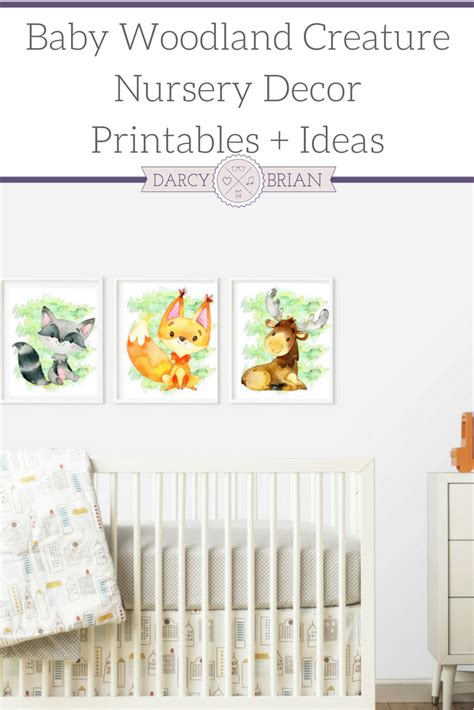 Woodland Creatures Nursery Decor Baby Woodland Creature Nursery Decor Printables Ideas With Darcy And Brian