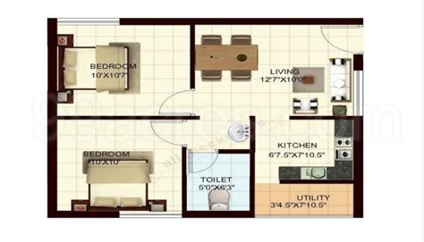 550 Square Floor Plan by 600 Sq Ft 2bhk Floor Plan Thefloors Co