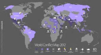 World Conflict Map by World Map Of All Wars And Conflicts Happening In 2012