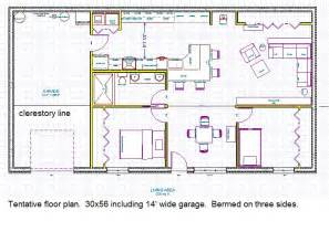 earth bermed home plans berm home floor plans berm home plan first floor house