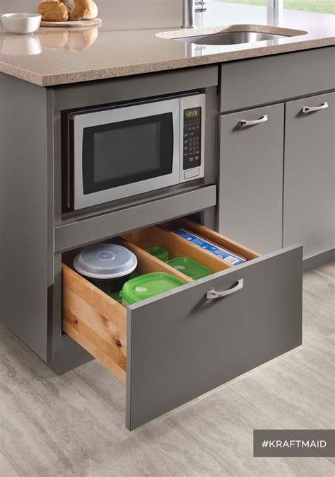 25 best ideas about microwave cabinet on