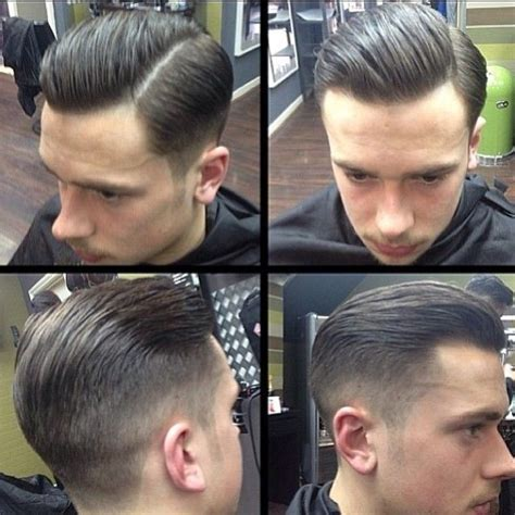 rockabilly rear view of men s haircuts 25 best ideas about side part fade on pinterest side