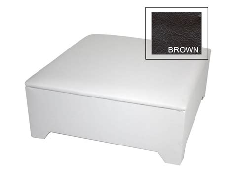 large brown faux leather ottoman hunter large brown faux leather ottoman special offer