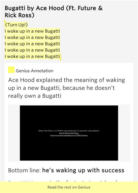 i woke up in my new bugatti lyrics turn up i woke up in a new bugatti i woke up in