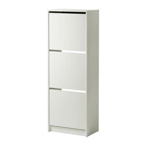 bissa shoe cabinet with 3 compartments white ikea