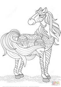 Ausmalbild H&252bsches Pferd Zentangle  Ausmalbilder Kostenlos Zum sketch template