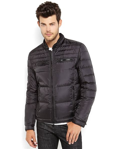 Jaket Hondie Guees lyst guess puffer jacket in black for