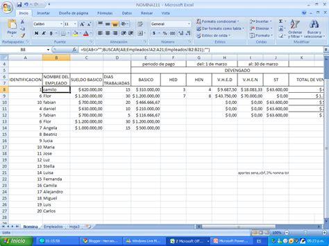 nomina en excel formulas excel funciones de excel nomina en excel formulas excel autos post