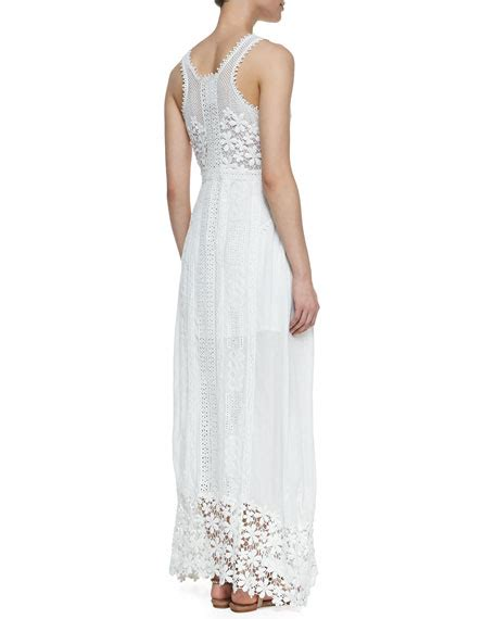 Yoana Maxi Dress yoana baraschi sleeveless eyelet lace maxi dress