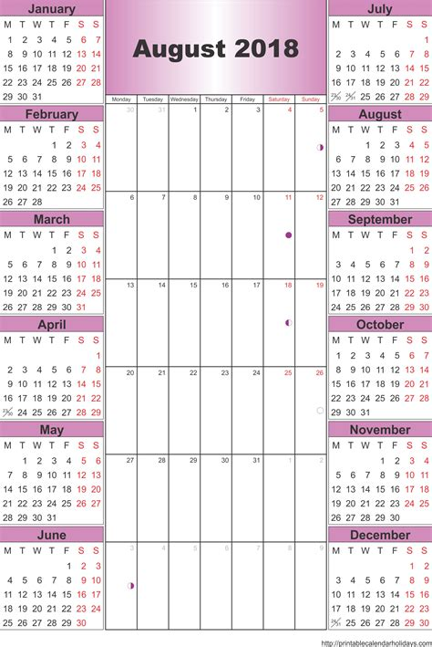 printable calendar 2017 and 2018 august 2018 calendar template printable 2017 calendars