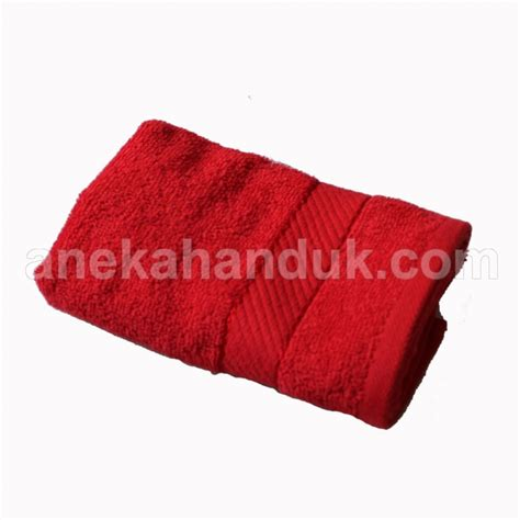 Handuk Chalmer 30 70 handuk bordir polos murah jual handuk polos merah border
