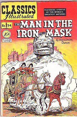 the iron man illustrated 1406329576 classics illustrated 54 vg fn original the man in the iron mask 1948 o hipcomic