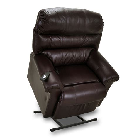 recliner chair with lift chase leather lift recliner in brown mcgregors furniture