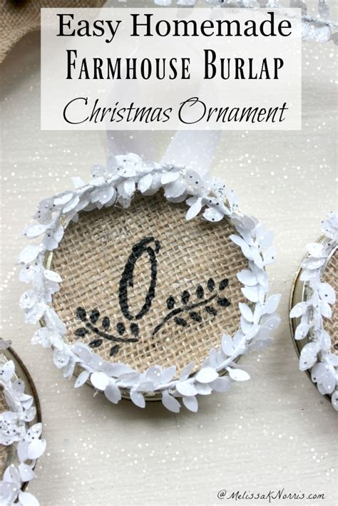 how to geed burlap in a christmas easy farmhouse burlap ornament tutorial