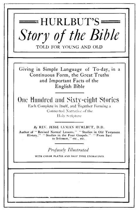 the story of scripture an introduction to biblical theology hobbs college library books the baldwin project story of the bible by lyman hurlbut