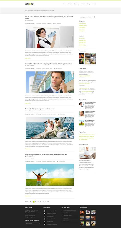 blog layout minimal extensio elegant and minimal business template by atix