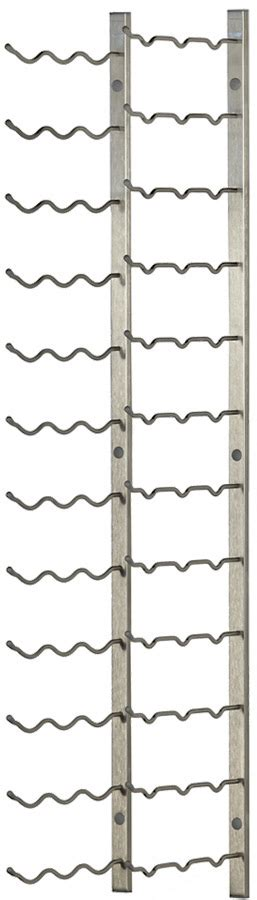 Brushed Nickel Wine Rack by 36 Bottle Vintageview 174 Metal Wall Mounting Wine Rack