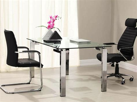 modern glass desks for home office home design modern