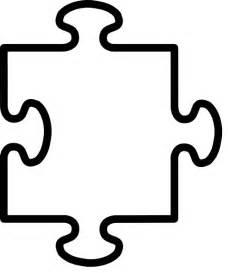 large puzzle piece template clipart best clipart best