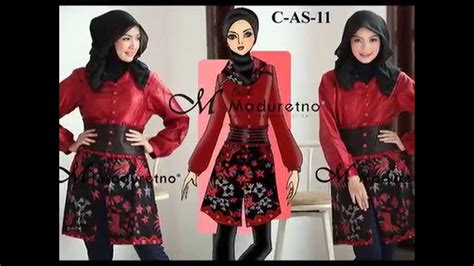 Dress Batik Tulis Kombinasi busana batik tulis madura batik maduretno