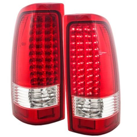 chevy silverado 2500 2003 2004 led tail lights red clear