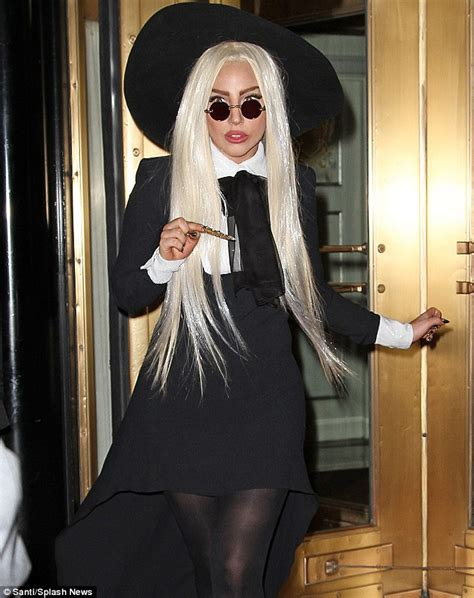 arriving in style lady gaga chose a vintage cadillac to take her to lady gaga works a yoko ono look as her stylist nicola