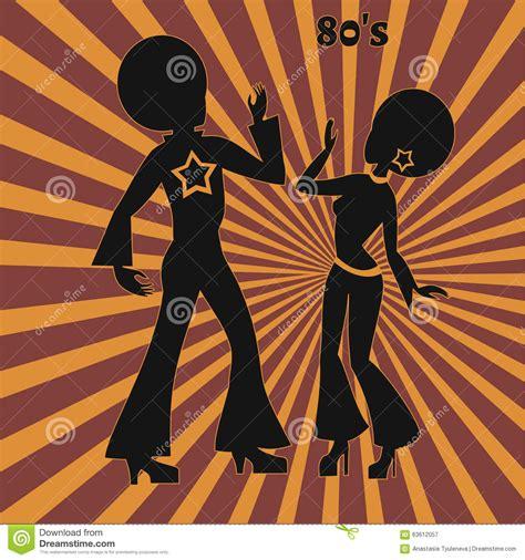 imagenes retro de los 70 dos bailarines del disco ejemplo retro de a 241 os 70 stock
