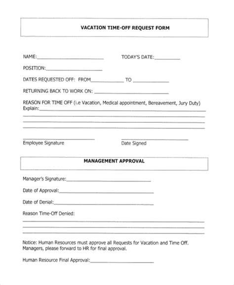 time request form template employee time request form template zoro blaszczak co