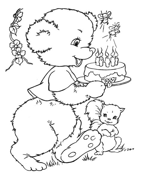 coloring pages teddy bear kids coloring