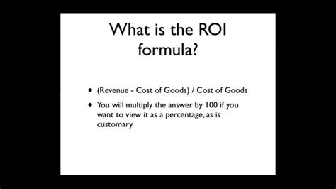 How To Find On How To Calculate Roi