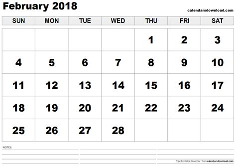february calendar template 2018 february 2018 calendar template monthly calendar 2017
