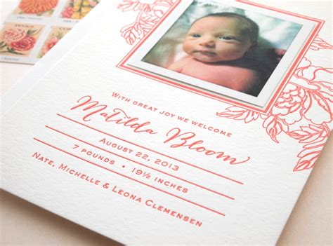 letterpress wedding announcement custom letterpress baby announcement the quill missive
