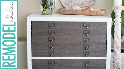 Kallax Filing Cabinet Ikea Hack Kallax Shelf To Flat File Cabinet Drawers