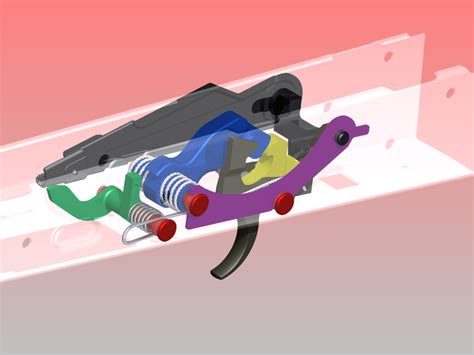 Triger 3d trigger assembly for ak47 step iges autodesk inventor 3d cad model grabcad