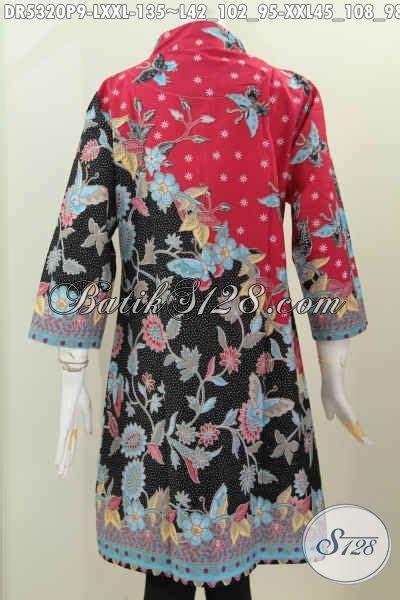 Celana Panjang Kerja Wanita Kulot Motif Bunga Roses Jumbo Hitam baju batik kerja wanita dewasa baju batik model dress